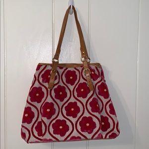 Glenda Geis flower power chenille purse